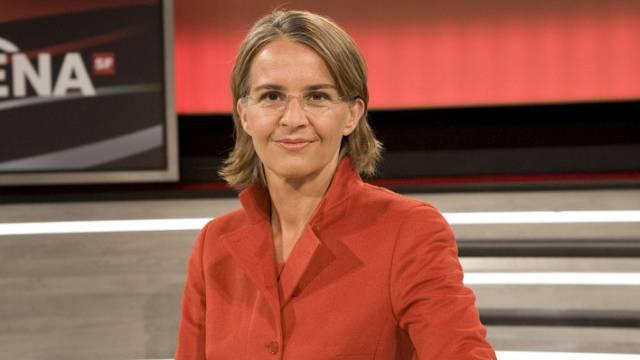 2011–2014: Sonja Hasler, Co-Moderatorin mit Urs Wiedmer.