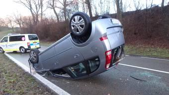 Selbstunfall in Fislisbach (14.01.2019)