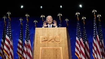 Joe Biden schliesst den Parteitag der Demokraten mit einem rhetorischen Feuerwerk ab Wilmington.