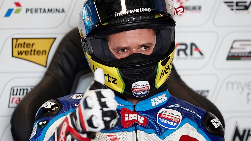 Schwierige Rückkehr in den Wettkampf ansprechend gemeistert: Tom Lüthi auf dem Circuit bei Barcelona