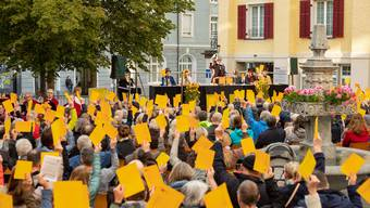 Zum 200. Geburtstag der von Ennetbaden fand kürzlich eine Landsgmeind statt.