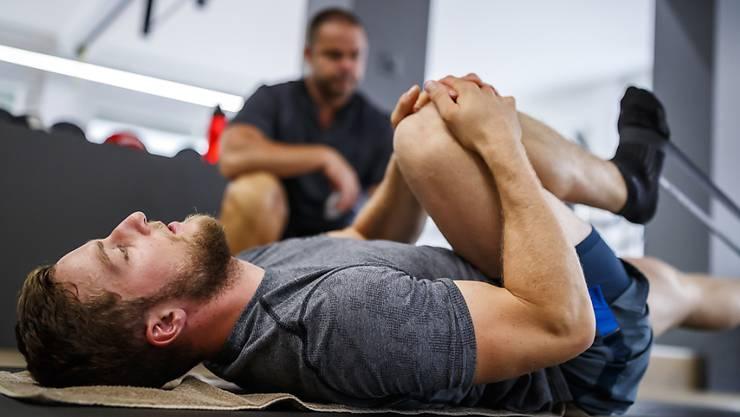 Das rechte Knie: Justin Murisier verpasst erneut eine ganze Saison