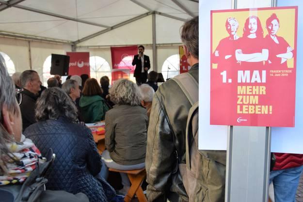1.-Mai-Feier auf dem Neumarktplatz in Brugg.