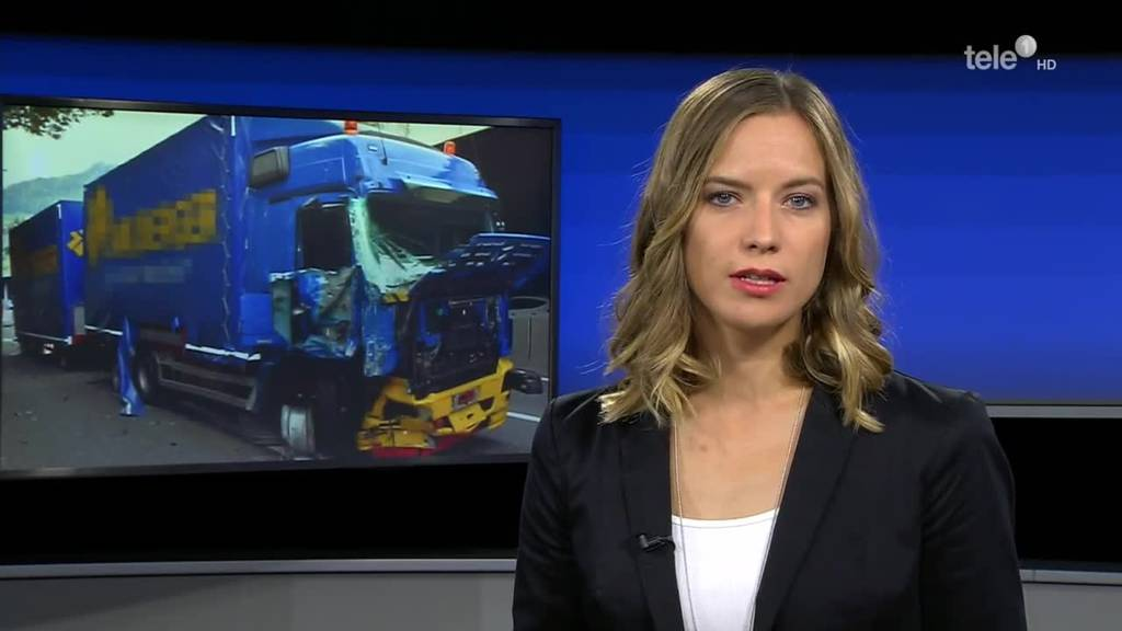 Lastwagenunfall blockiert A2
