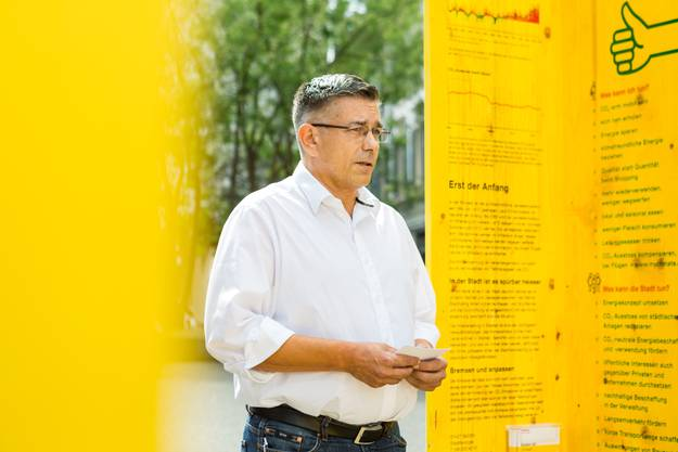 Der Badener Stadtammann Markus Schneider (CVP) hofft, dass mit den Umweltwochen möglichst viele Leute für das Thema sensibilisiert werden.