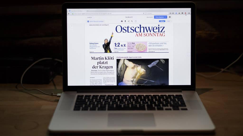 Die Ostschweiz am Sonntag erschien seit September 2017 nur noch digital.