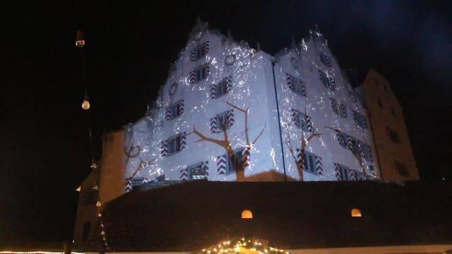 Impressionen von der Illumination der Schlossmauern in Möriken-Wildegg