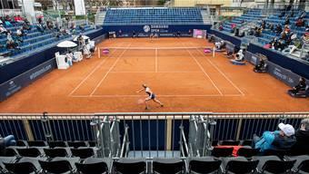 Die Schweizerin Jil Teichmann (vorne) spielte am Mittwoch in Lugano fast vor leeren Rängen.