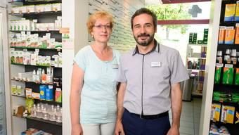 Gaby und Daniel Aebi von der Apotheke Husmatt.