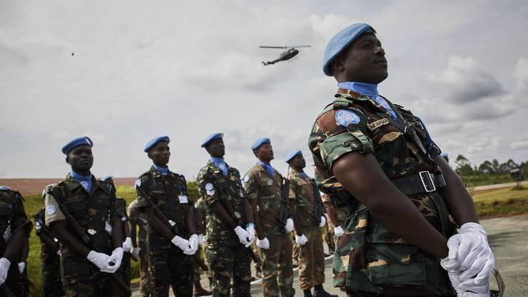 Soldaten der Uno-Friedenstruppe Monusco auf einem Flughafen in Beni nördlich von Goma in der Demokratischen Republik Kongo. (Archivbild)