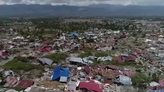 1407 Tsunami-Opfer: Drohnen-Aufnahmen zeigen Zerstörung