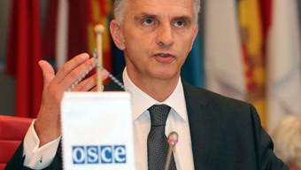 Didier Burkhalter in seiner Funktion als OSZE-Präsident (Archiv)
