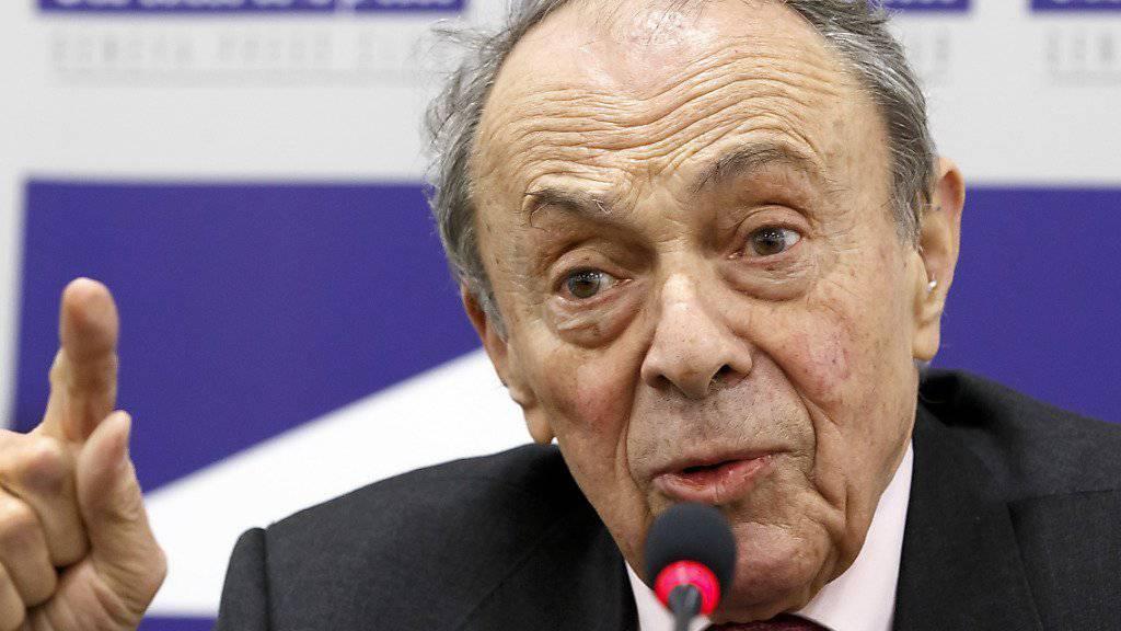 Michel Rocard war von 1988 bis 1991 Regierungschef in Frankreich. Hier bei einer Medienkonferenz im Schweizer Presseclub in Genf im Januar 2014. (Archiv)