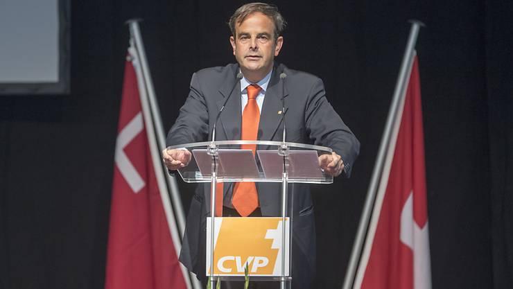 Will wieder Ecken und Kanten in seiner Mittepartei: CVP-Präsident Gerhard Pfister an der Delegiertenversammlung in Morschach.