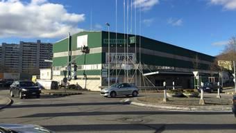 Der Komplex des ehemaligen Transportunternehmens Hangartner in der Telli Aarau 2017.