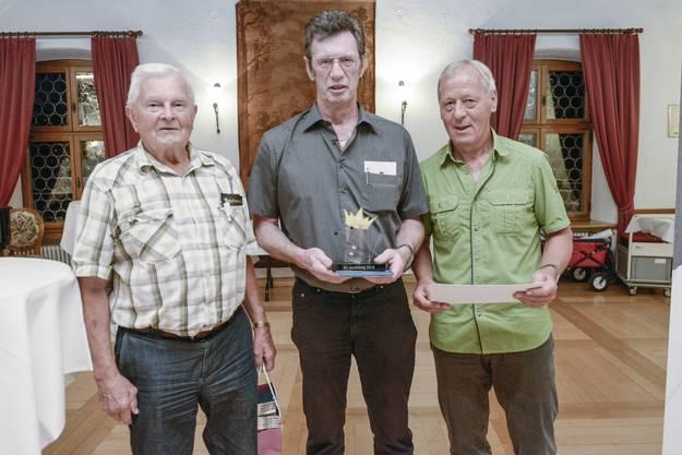 Die Gewinner Dieter Faller,Arlesheim, Willhelm Graf, Aesch und Beat Brodbeck aus Tenniken.