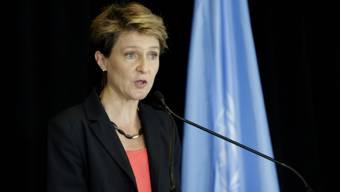 Bundesrätin Simonetta Sommaruga beim UNO-Treffen in New York
