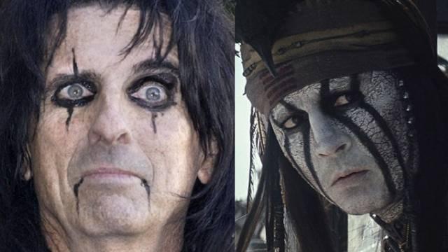 """Alice Cooper (l) und Johnny Depp (Archiv/""""Lone Ranger""""-Website)"""