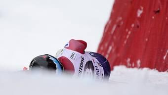 Jacqueline Wiles nach ihrem fatalen Sturz in Garmisch