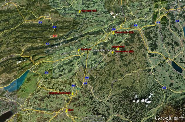 Kestenholz, Erschwil, Thunstetten, Urtenen-Schönbühl