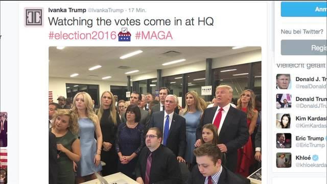 Die Emotionen der Wahlnacht