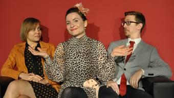 Dominique Lysser, Tanja Krieg und Christoph Stapfer (v.l.) brillieren in «Kein Dinner für Sünder»
