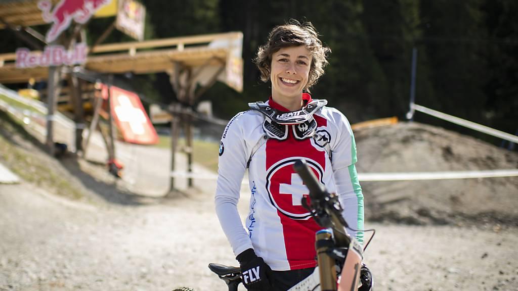 Emilie Siegenthaler mit starker Leistung: WM-Fünfte im Downhill