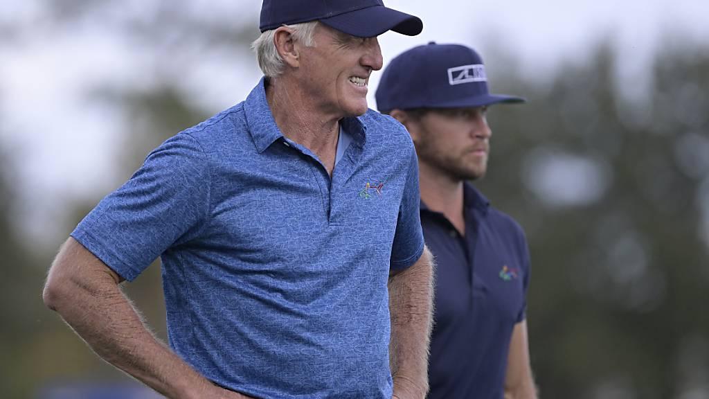 Noch vor einer Woche nahm Greg Norman mit seinem Sohn Greg junior an der PNC Championship teil