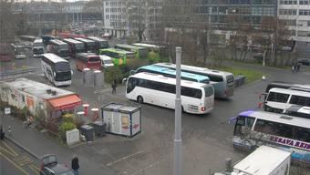Der Carparkplatz beim Zürcher Hauptbahnhof.