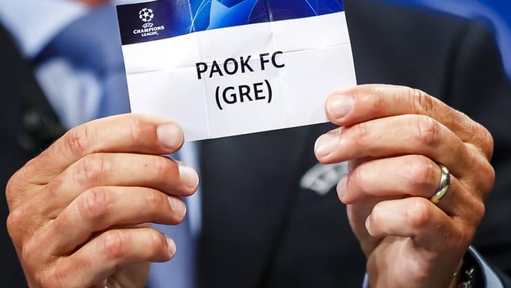 So heisst der erste griechische Europacup-Gegner des FC Basel.