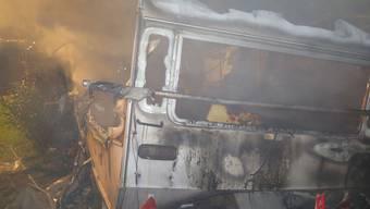 Wohnwagen brennt auf Campingplatz in Bubendorf aus