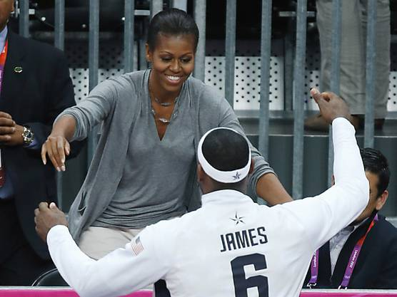 First Lady Michelle Obama an den Olympischen Spielen in London