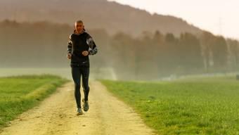 Roland Gröflin hat inzwischen 11 der 60 Etappen auf seinem Lauf rund um die Schweiz absolviert.