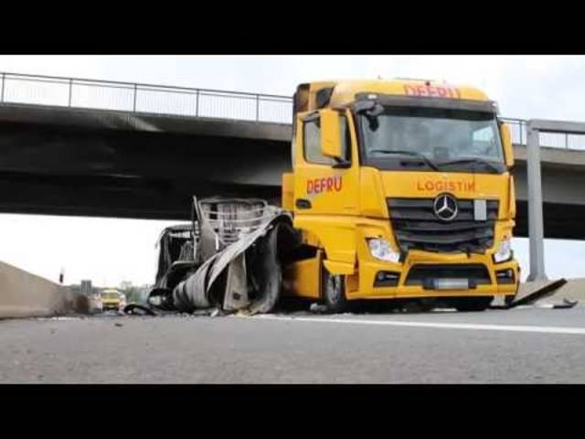 Der tödliche Lkw-Unfall auf der A60 bei Ginsheim-Gustavsburg in Deutschland