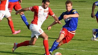Loic Chatton (links) erzielte das 1:0 für den FC Solothurn.
