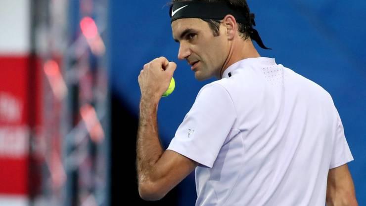Sicherte der Schweiz im Final des Hopman Cups in Perth gegen Deutschland den ersten Punkt: Roger Federer