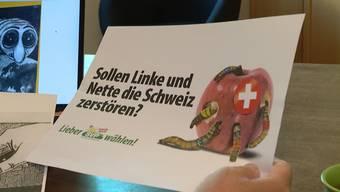 Das neue Wahlsujet der Volkspartei besitzt Ähnlichkeiten mit der Bildsprache, welche die Nazis im zweiten Weltkrieg zu Propagandazwecken brauchten.