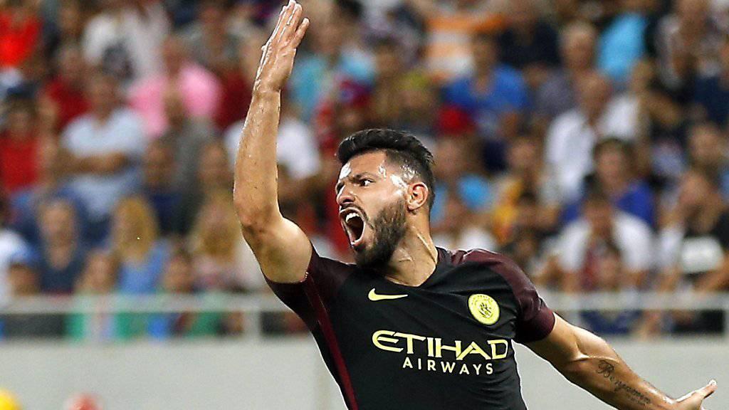 Sergio Aguero von Manchester City wurde nachträglich für drei Spiele gesperrt