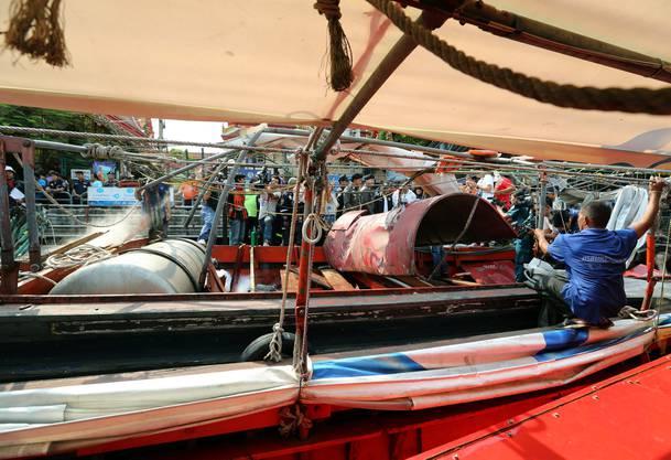 Das Boot war voll besetzt als sich die Explosion ereignete