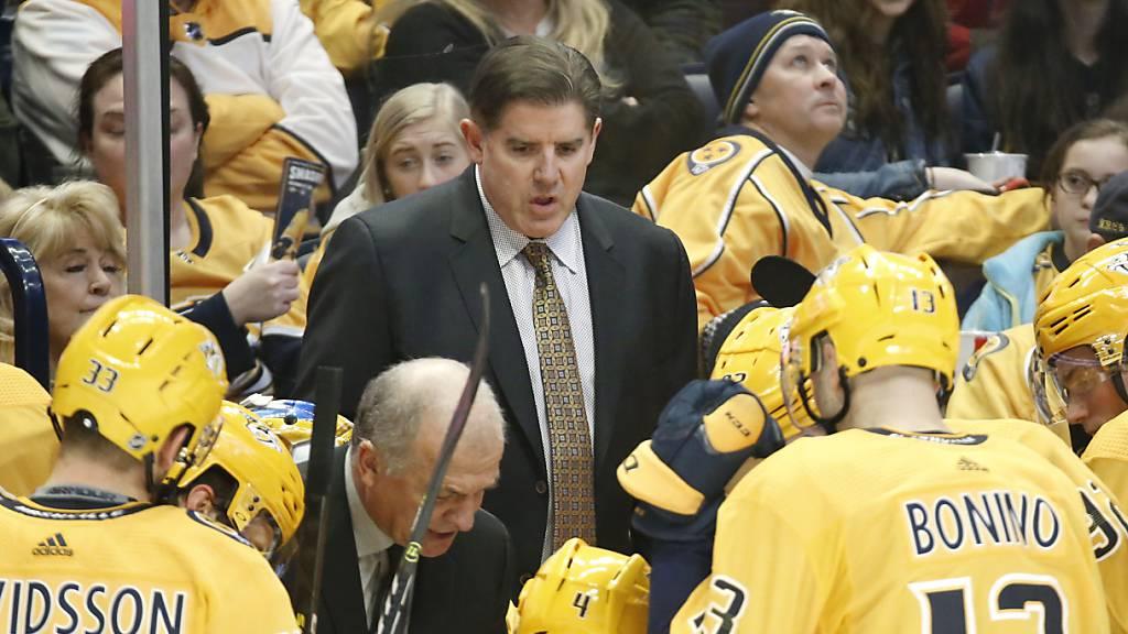 NHL: Nashville entlässt Trainer Laviolette