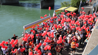 Rund 300 Personen nahmen an der Protestaktion teil.