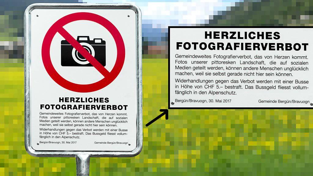 Das Foto-Verbot in Bergün in Graubünden irritiert und verärgert - aber es wird international beachtet.