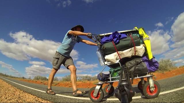 Mit dem Einkaufswagen durch Australien
