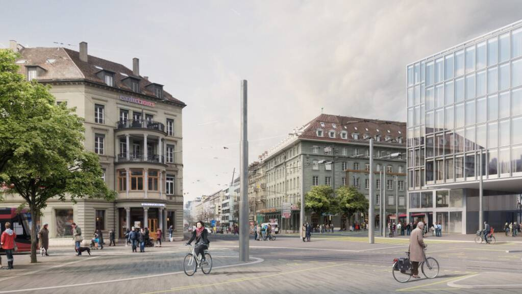 So soll der Bubenbergplatz dereinst aussehen. Die Stadtberner haben den 112-Mio-Kredit für flankierende Massnahmen zum Bahnhofsausbau angenommen.