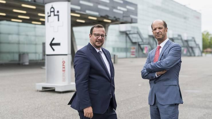 Sie sind das Epizentrum des Widerstands gegen «Die Mitte», den neuen Namen der CVP:  Die Oberwalliser Anwälte und Parlamentarier Philipp Bregy und Beat Rieder.