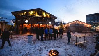 Schneereich und damit sehr passend startete das Winter-Wunderland am Dorn- acherplatz. Nur Petrus' andere Wetterlaunen im Dezember trübten die Freude der Organisatoren.