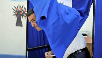 Hat gut lachen: Syriza-Chef Alexis Tsipras erreicht fast gleich viel Stimmenprozente wie letztes Mal. Lefteris Pitarakis/Keystone