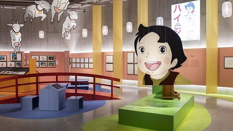 """Das fröhliche Mädchen aus den Bündner Bergen hat bis nach Japan Kinder in seinen Bann gezogen und dort die Inspiration für das Anime-Genre geliefert. """"Heidi in Japan"""" im Zürcher Landesmuseum zeigt die Hintergründe."""