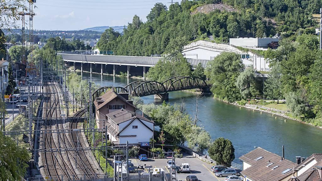 Die Fluhmühle, wo die Reussportbrücke erstellt würde. (Archivaufnahme)