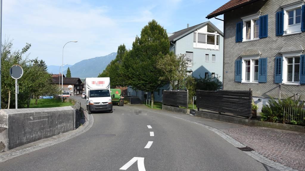 Der Unfall ereignete sich auf der Dorfstrasse in Grabs